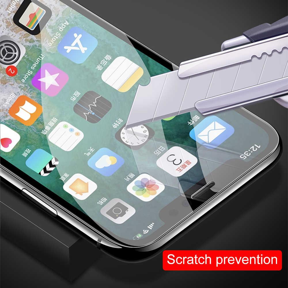 Para o iphone Protetor de Tela 7 8 6 6s XS Mais Max XR Vidro Curvo Temperado Tela De Vidro Para iPhone X Cobertura Completa Proteção Filme
