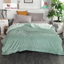 Купить с кэшбэком Slowdream Warm Thick Sherpa Throw Green Blanket Weighted Flannel Fleece Blanket Queen King Adult Summer For Bed Or Couch 1PCS