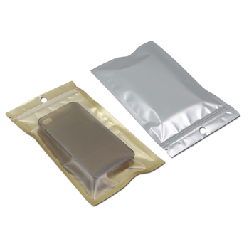 Mobile Phone Case Retail Packaging Package Bag for iPhone 4 4S 5 5S 6 Plus Samsung Plastic Zip Lock Poly Packs Golden / Clear