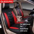 4 Colores Cubierta de Asiento de Coche diseñado Específicamente para Ford Fiesta (2009-2016) cuero de la pu artificial Car Styling accesorios del coche