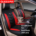 4 Colors Car Seat Cover Specifically tailored for Ford Fiesta (2009-2016) pu artificial leather Car Styling car accessories