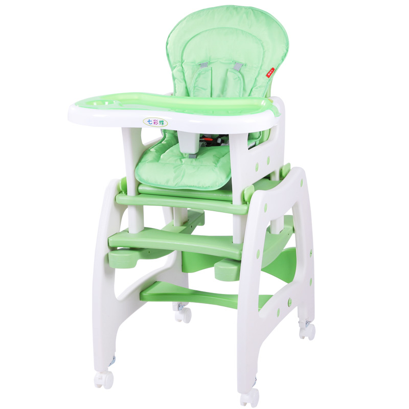 Multi-function Foldable Cockhorse Child Seat Portable Adjustable Baby Highchair With Plate Feeding Chair Or Desk For 0-6T Kids цена