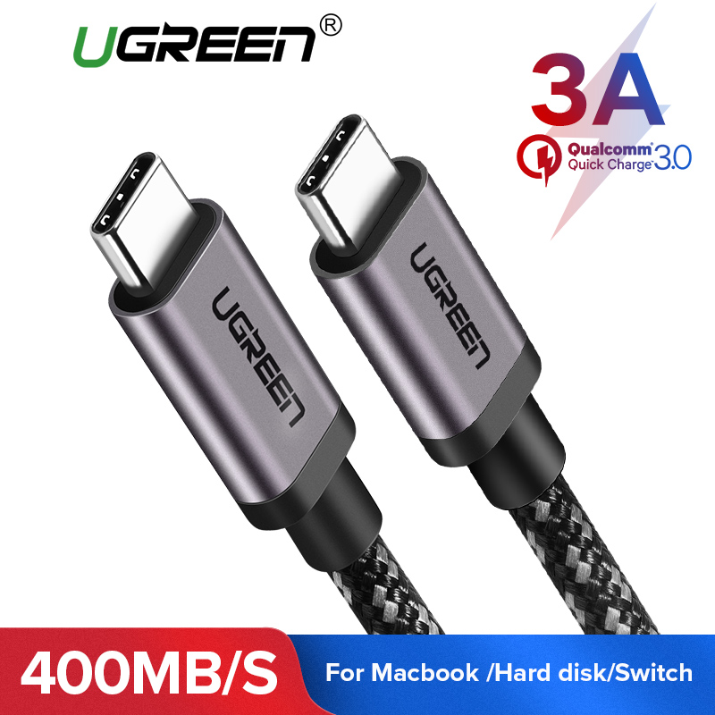 Ugreen USB Typ C Kabel 3A USB C zu USB-C Kabel für Samsung Galaxy S9 Hinweis 9 Schnelle Lade Typ C Kabel für Oneplus USB 3.1 Schnur
