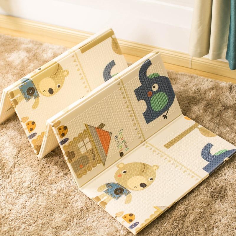 Tapis de jeu pliable pour bébé 200*150*1cm tapis de jeu pour enfant imperméable à l'eau tapis de pique-nique souple tapis tapis d'escalade antidérapant jouets en mousse