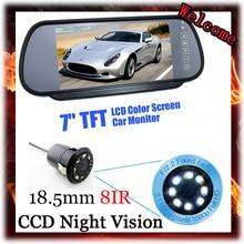 цена на 7 Tft Color Hd Screen Lcd Car Rear View Mirror Monitor Reverse Parking + Backup Reverse Night vision 8 IR LED Rear View Camera