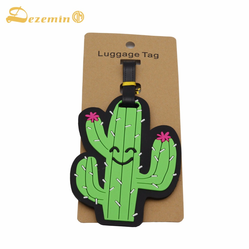 DEZEMIN Kids Girls Boys Luggage Tags Funny Travel Accessories