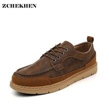 Осенние повседневные Модные Винтажные Мужская обувь оксфорды дышащая обувь на плоской подошве обувь из искусственной кожи водонепроницаемая обувь для мужчин