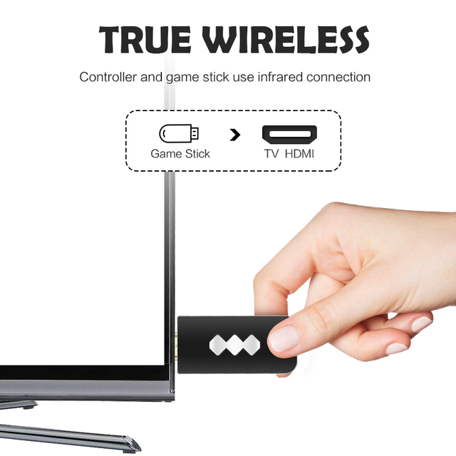 Data Frog USB Wireless Handheld TV Video Game Console Build In 600 Classic Game 8 Bit Mini Video Console Support AV/HDMI Output 3