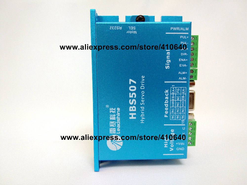 Leadshine HBS507 Updated From Old Model HBS57 Easy Servo Drive with Maximum 20-50 VDC Input Voltage, and 8.0A Current leadshine hbs86 easy servo drive with maximum 20 80 vdc input voltage and 8 5a peak current