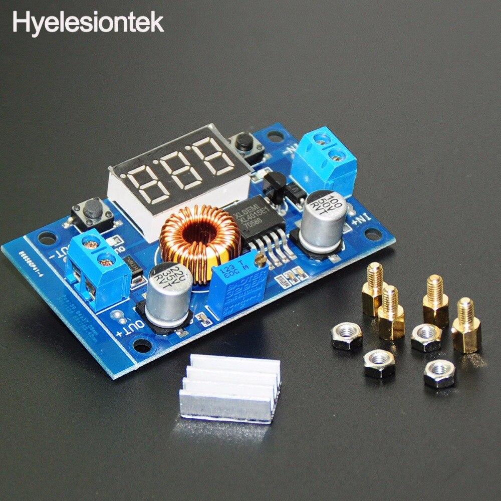 75W 5A XL4015 DC-DC Step-Down Buck Adapter Converter LED Voltmeter Adjustable Step Down Power Supply Voltage Regulator Heatsink diy lm2596 adjustable step down voltage regulator buck converter modul