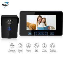 Saful новый 7 дюймов видео-телефон двери Беспроводной домофон монитор Водонепроницаемый видео-дверной звонок ИК Ночное видение двери Камера/просмотра