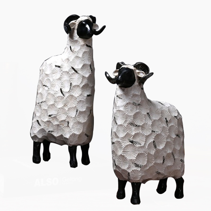 American Country Wine Cabinet Decoration Birthday Gift Home Decor Nordic Creative Sheep Resin Home Decoration Accessories
