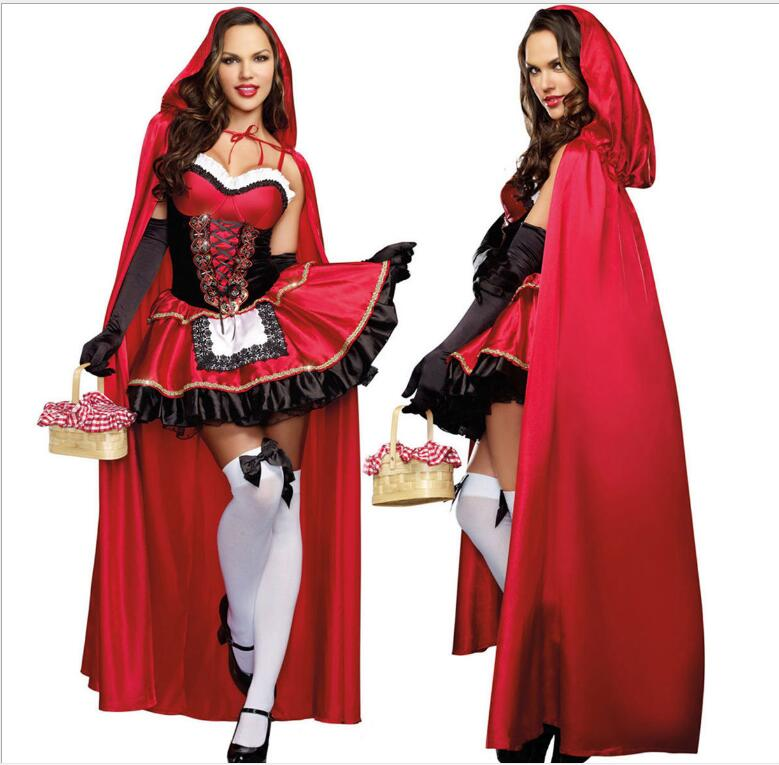 2017 Little Red Riding Hood Costume For Women Fancy Adult -4733