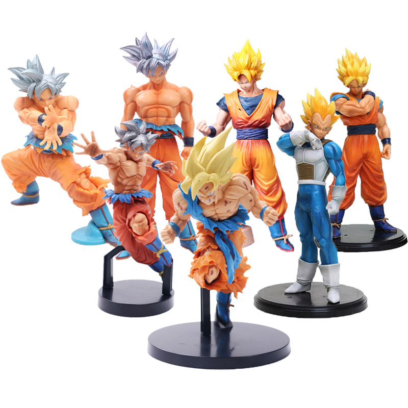 Dragon Ball Z Super Saiyan Vegeta Son Goku PVC Action Figure Collection Model Toys For Kids