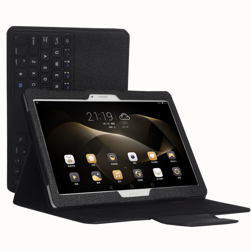 где купить Detachable Wireless Bluetooth Keyboard Stand PU Leather Cover Case For Huawei MediaPad M2 10 M2-A01L M2-A01M M2-A01W 10.1 Tablet дешево