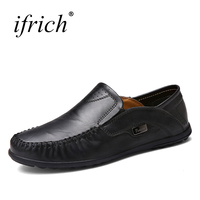 Ifrich Brand Sneakers Coffee Black Designer Driving Mens Fashion Shoes Slip On Casual Footwear Men Shoes