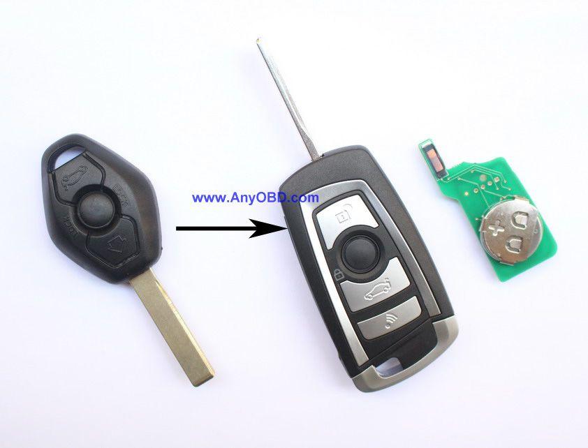 Prix pour Pour BMW CAS2 voiture 3, 5 série E93, E60, Z4 X5 X3 voiture Fob bascule modifié télécommande clé 315 mhz ou 433 mhz ou 868 mhz