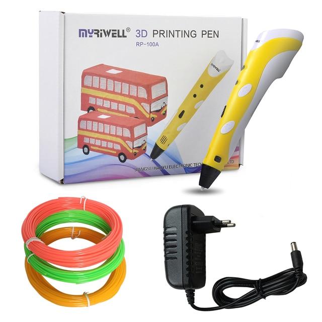 Venta al por mayor de bolígrafos de dibujo 3D para niños Myriwell bolígrafos de impresión 3D con filamento ABS de 1,75mm de regalo de cumpleaños para niños y niñas