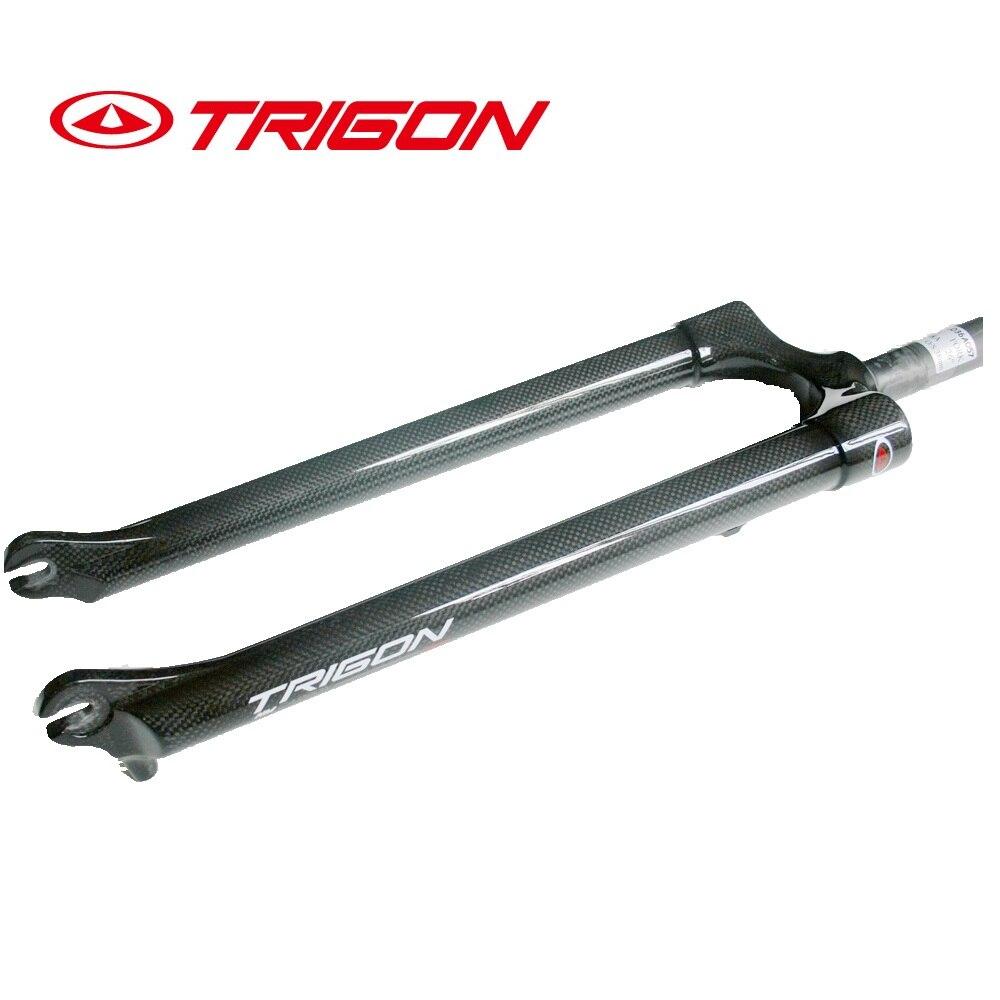 """New TRIGON MTB Rigid Carbon Fork for 29er 29/"""" 1-1//8/"""" 1.5/"""" taper Disc Brake 640g"""