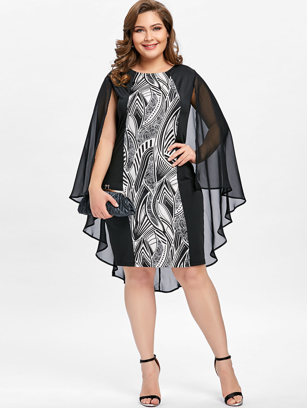 e238ec090410e best top plus size dress with cape ideas and get free shipping ...