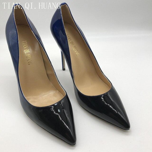 de84a5c353 2017 NOVO Estilo de Mulher Sexy Bombas de Alta Qualidade sapatos de Camurça  Sapatos de Couro