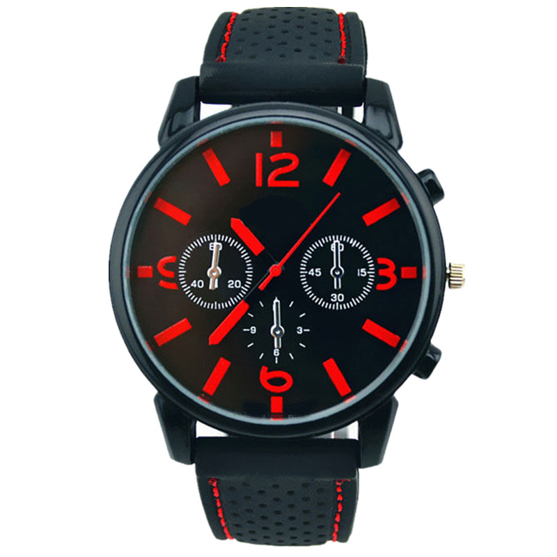 BLUELANS New Chronograph 24 Hours Function Men Sport Watches Silicone Red Waterproof Luxury Watch Men Top Brand Military Watches skone chronograph 6 hands 24 hours function men sport watch silicone luxury watch men top brand military watch auto date relogio