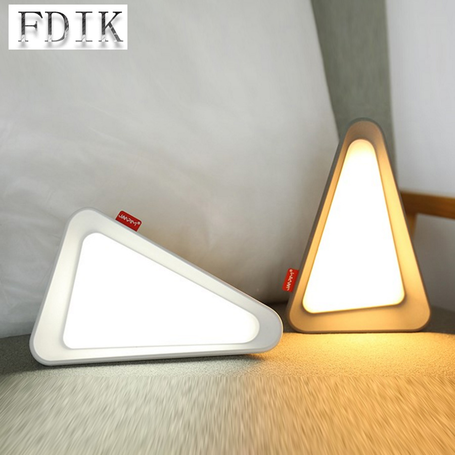 Triangle Desk Lamps LED Flip Lamp Eye Protection USB Recharging Table Lights Dimming Night Light for Reading Lamp Home lighting creative hose led desk lamps usb charger dimming lights reading desk lamps bedroom dormitory night light indoor lighting