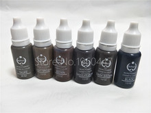 6pcs Biotouch Tattoo Ink Set Permanent Makeup Pigments 15ml 1/2OZ Cosmetic Eyebrow Eyeliner Tattoo Paint Brown Back Color