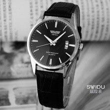 Fashion Leather Men Watches Casual Single Calendar Dress Watches Simple Luxury Quartz Unisex Wristwatches relogio masculino