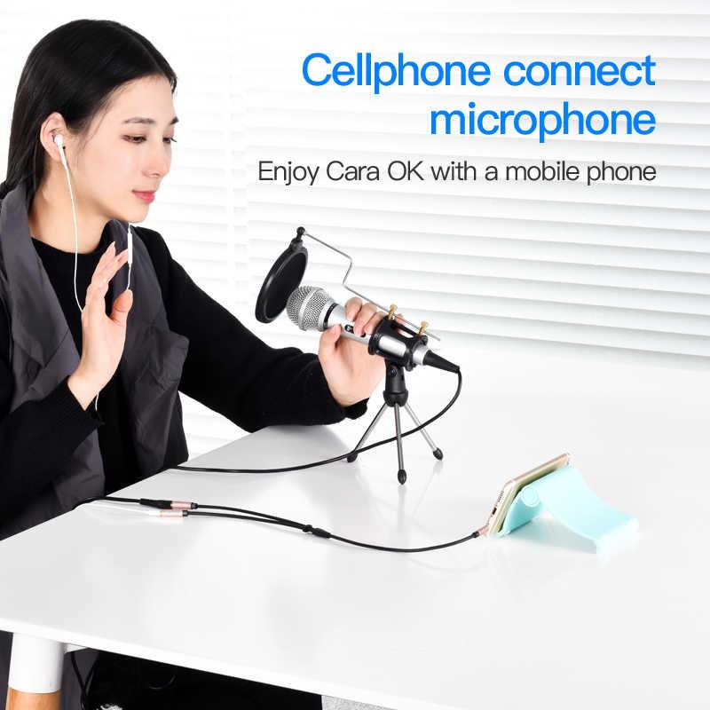 Vention мм 3,5 мм Aux кабель аудио сплиттер для компьютера Jack 3,5 мужчин и 2 Женский Mic сплиттер наушники удлинитель