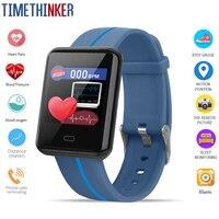 Timethinker Smart Bracelet Watch 1.3 Bluetooth ECG Health Monitor Blood Pressure Heart Rate Sleep Fitness Tracker Pedometer F5