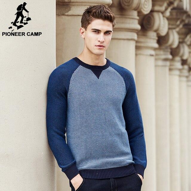 Pioneer Лагерь лоскутное Свитер мужчины Новое прибытие Мода марка одежда высочайшее качество мужской Вязаный Свитер И Пуловеры 677128