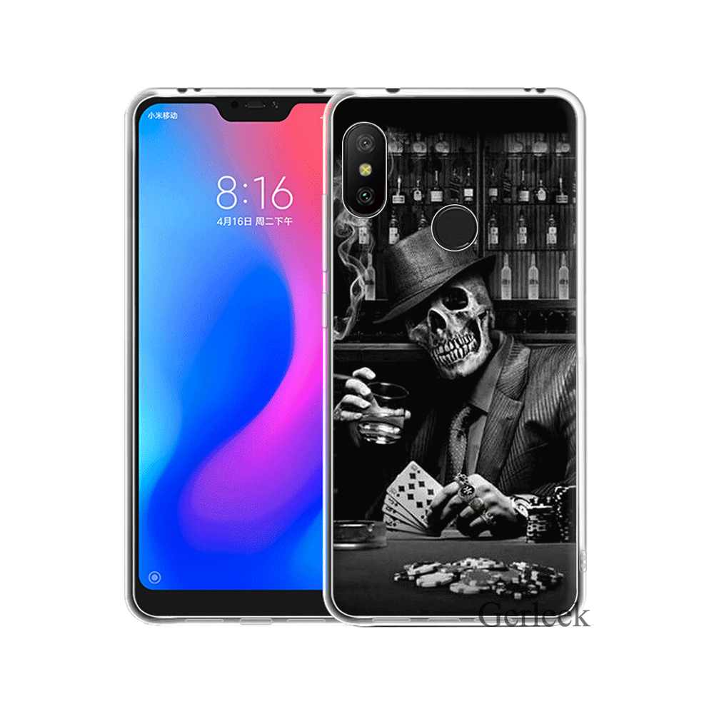 Étui de téléphone pour xiaomi Redmi Note 6 7 3 Pro 4 4X5 5A Couverture Crâne Avec Fille