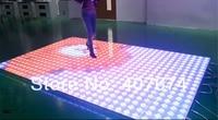 12 мм Толщина RGB LED Интерактивная танцпол с 50 видов Bulit в динамических Вышивка Крестом Картины, чувствителен LED dance floor