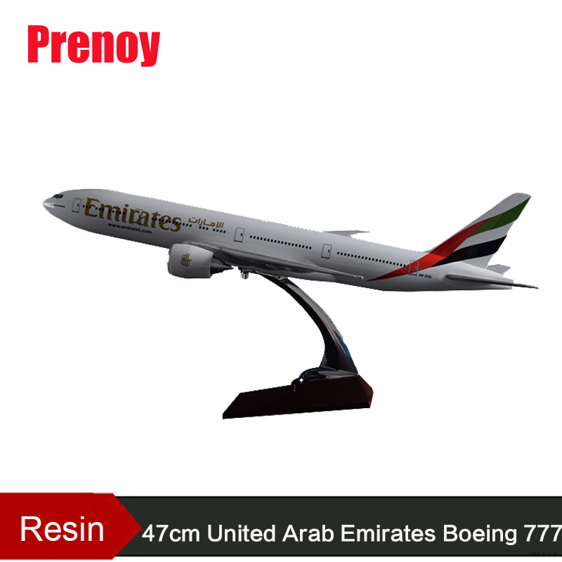 47cm Resin Boeing 777 Airplane Model United Arab Emirates Airlines International Airways Model Emirates Aircraft Souvenir Model 1 400 jinair 777 200er hogan korea kim aircraft model