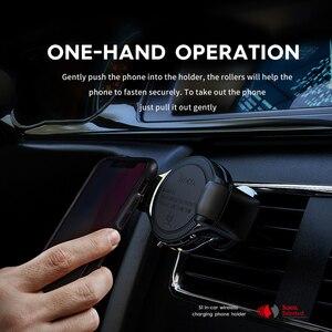 Image 5 - Hoco s1 자동차 무선 충전기 아이폰 11 xs 최대 x xr 8 삼성 s10 s9 빠른 빠른 qi 무선 충전기 홀더 자동차에 전화에 대 한