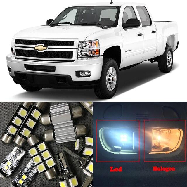 13pcs white auto interior led light bulbs kit for chevy - Led interior lights for 2013 chevy silverado ...