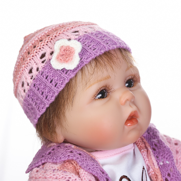 reborn doll with soft real gentle touch free shipping lifelike soft silicone lovely toys for baby girls popular Christmas Gifts