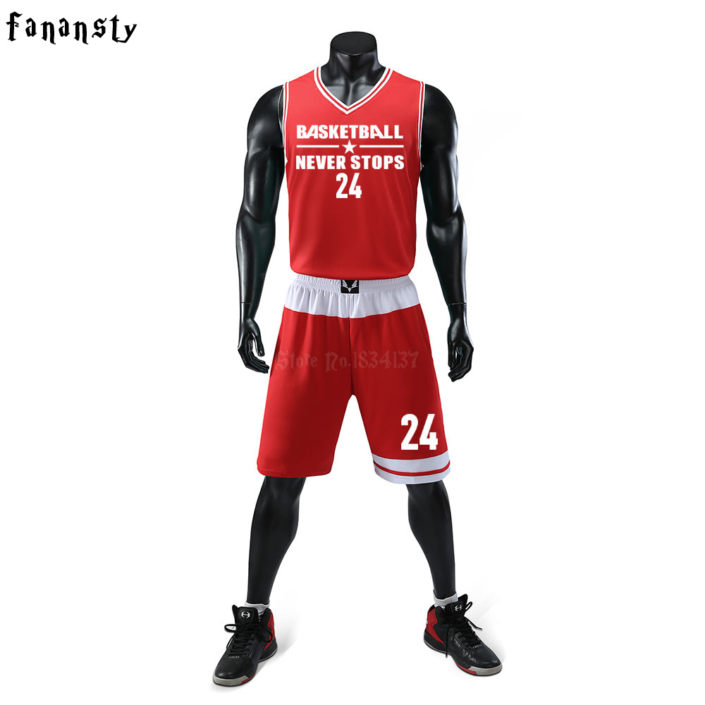 pretty nice 7d370 b1f9d US $19.68 |Top Quality Men Basketball Uniforms Sets Mens Sports Suits  Breathable Quick dry Custom Cheap college Basketball Jerseys New 2018-in ...