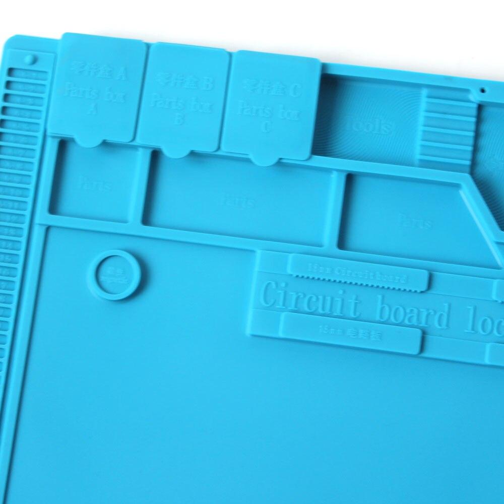 Image 4 - S 170 Insulation Pad Heat Resistant Silicon Soldering Mat 480mm X 318mm Working Pad Desk Platform Solder Rework Repair ToolsElectric Soldering Irons   - AliExpress