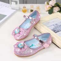 Haochengjiade flor crianças sapatos de couro princesa sapatos da menina do bebê para crianças glitter festa de casamento infantil chaussure enfant