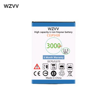 "wzvv 3000mAh C11P1428 Replacement Battery for Asus Zenfone 2 Laser ZE500KL ZE500KG Zenfone 2 Laser 5"" Z00ED Batteries(China)"