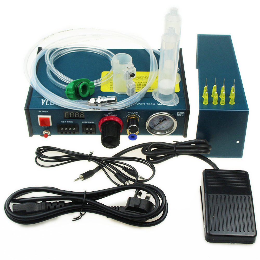 Glue Dispenser Machine Liquid Semi Automatic Dispensing 983A 220V Auto Glue Dispenser 983A Dispensing System
