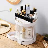 Upgraded version of large capacity lipstick cosmetic storage box rotating dressing wash transparent finishing box