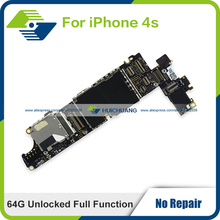 Genuine High Quality Logic Board 64GB for iPhone 4s Unlocked Full Function Replace Motherboard 100% working