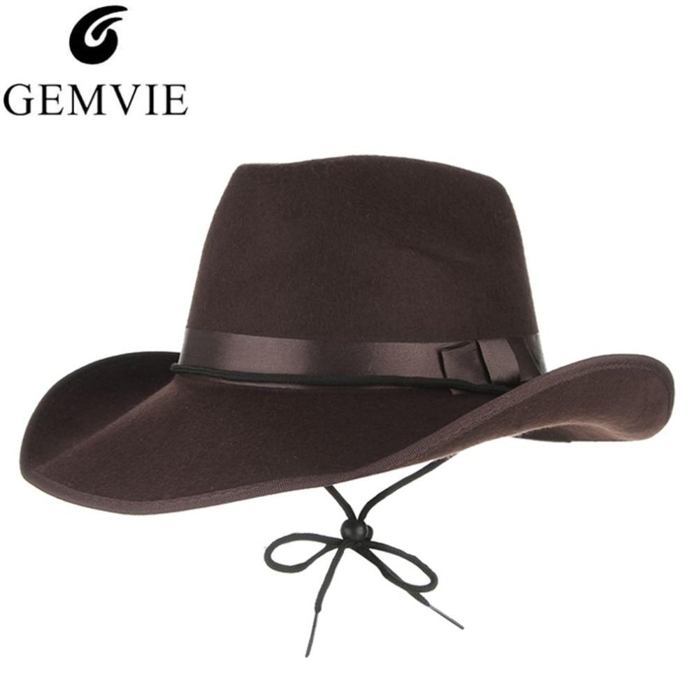 0170a6ca 4 Colors Vintage Western Cowboy Hats For Men Wide Brim Sun Visor Cap ...