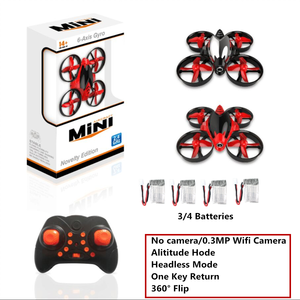 RH808/RH808HW Mini Drone with 0.3MP Camera Altitude Hode RC Quadcopter with Camera Toy 2.4G RC Helicopter 6 Axis VS H36 E010