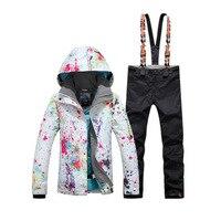 Для женщин Снег Одежда Спорт на открытом воздухе Сноубординг комплекты Водонепроницаемый ветрозащитный зимний Альпинизм Лыжный Спорт кос