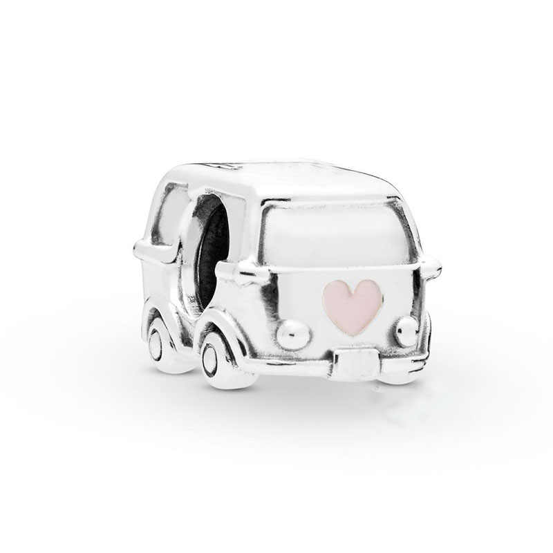 2019 новый весенний подлинный 925 стерлингового серебра Camper Van Шарм эмаль керамический акриловый бисер оригинальный браслет, украшение, подарок