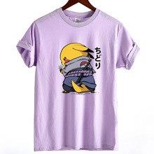 Пикачу Покемон мультфильм Женская футболка Camiseta o-образным вырезом хлопковая футболка с коротким рукавом женский размера плюс свободная футболка Harajuku топы